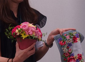 日比谷花壇敬老の日ギフトフェイラーハンカチセット