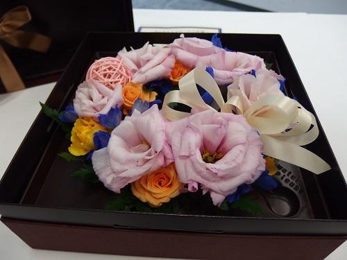 花キューピットボックスアレンジメント